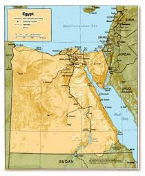 Карта Египта.